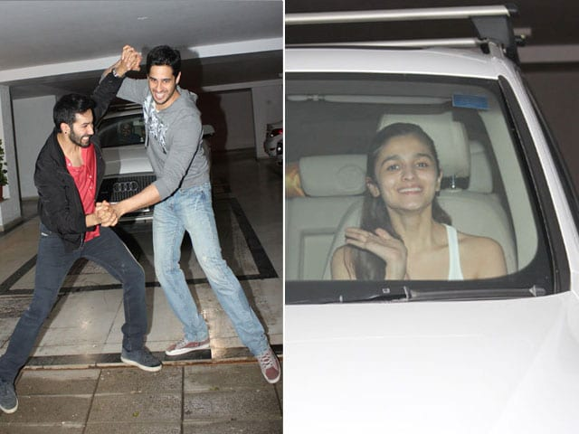 Two Students and a Dulhania: Varun, Sidharth, Alia