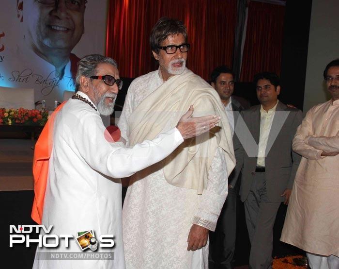 Big B, Bal Thackeray at a book launch