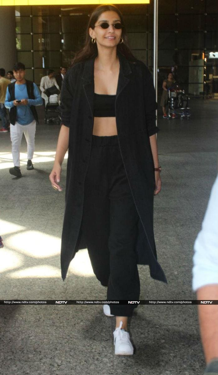 Sonam Kapoor Aces Her Airport Fashion Game