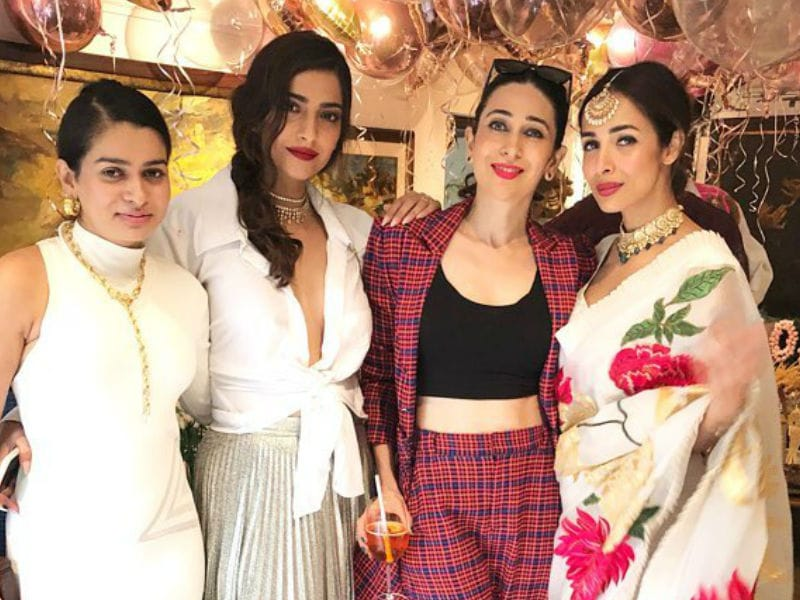 Pics From Sonam Kapoor's Birthday Bash With Karisma, Malaika And Others