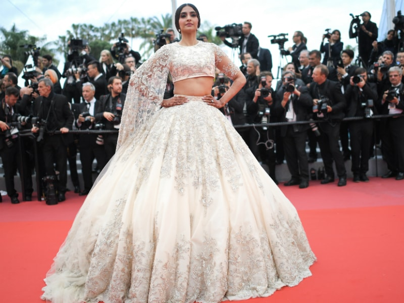 Sonam Kapoor Makes A Royal Fashion Statement On Cannes Red Carpet