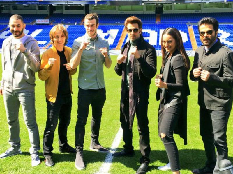 Sonakshi, Anil, Hrithik Met These Footballers in Spain. Hala Madrid!
