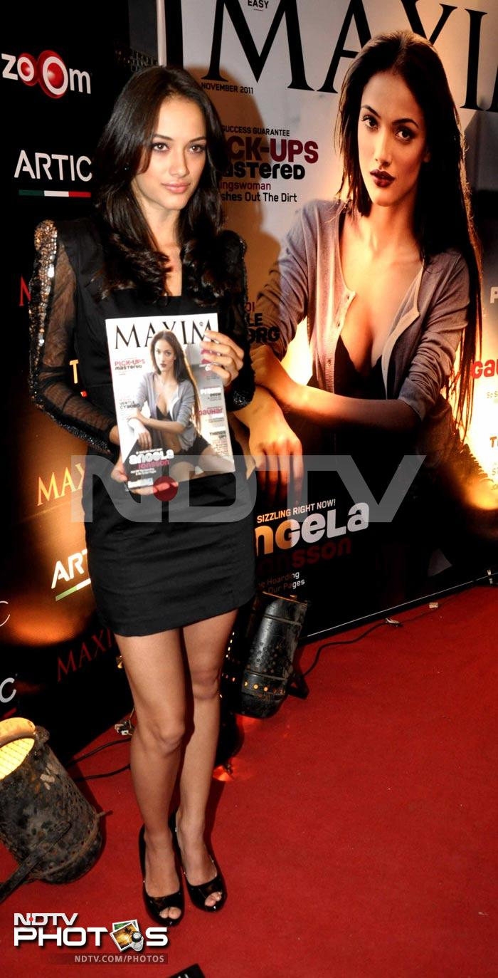 Spotted: Angela unveils Maxim cover