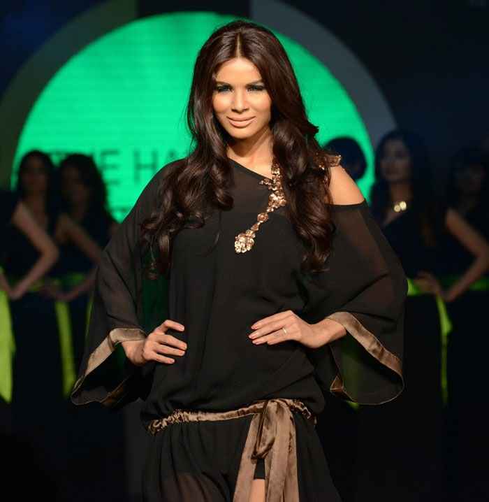 On the ramp: Neha Ahmed from Pakistan