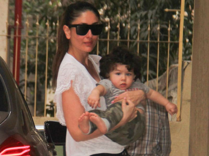 Kareena And Taimur Out In The Maximum City