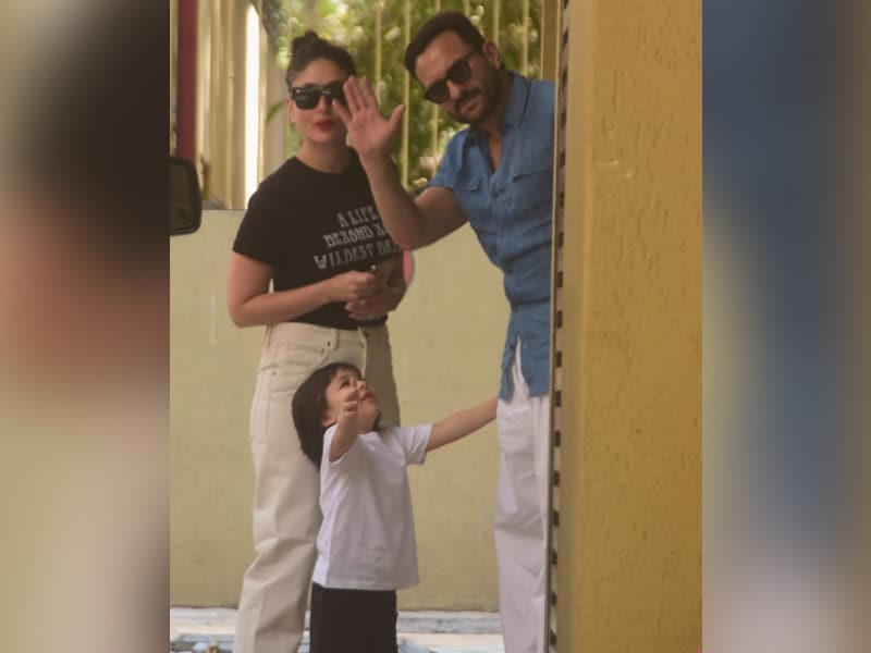 Taimur's Day Out With Mom Kareena Kapoor And Dad Saif Ali Khan