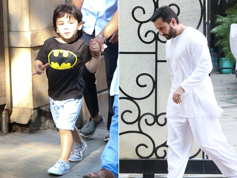 Saif Ali Khan's Day Out With Son Taimur