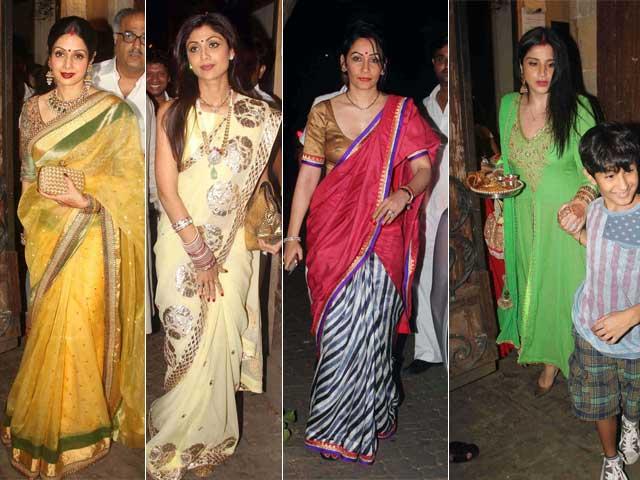 Photo : Karva Chauth Ke Chand: Sridevi, Shilpa, Maanyata, Maheep