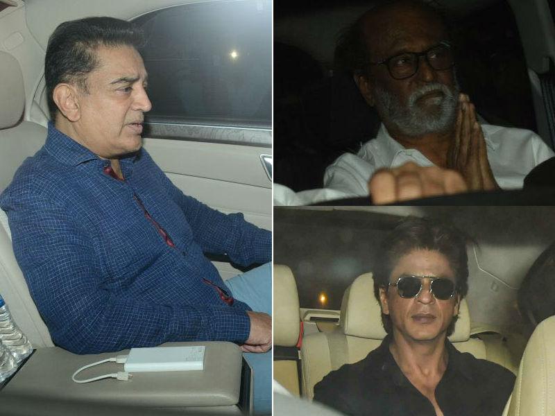 Photo : रजनीकांत, शाहरुख से कमल हासन तक, श्रीदेवी के निधन से दुखी सितारे पहुंचे अनिल कपूर के घर