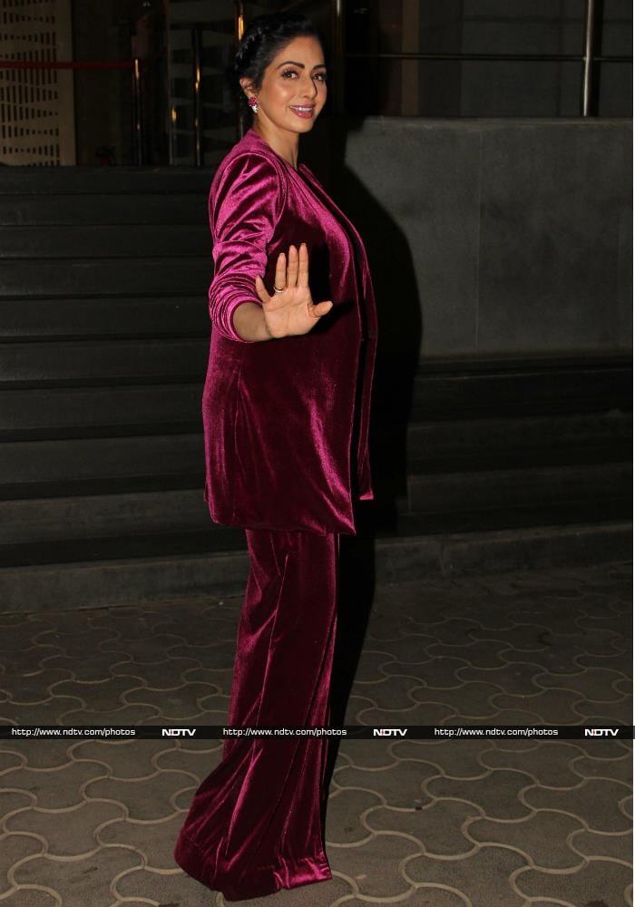 All Eyes Were On Sridevi At MOM Screening