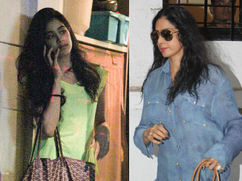 MOM Sridevi's Salon Date With Daughter Jhanvi