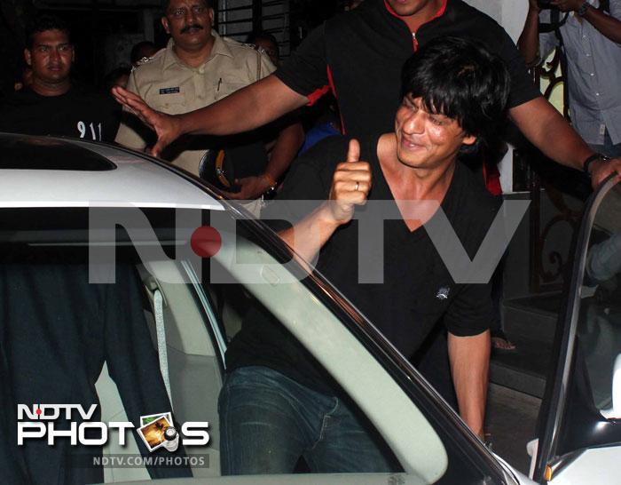 SRK takes lucky charm Suhana to KKR party