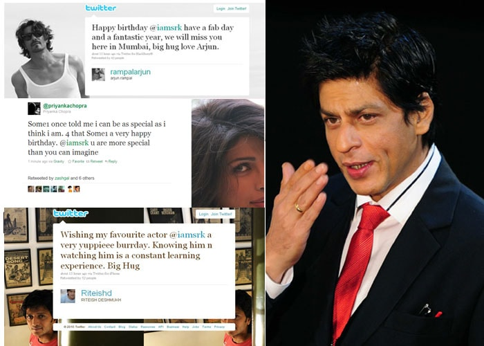 Bollywood celebs wish SRK