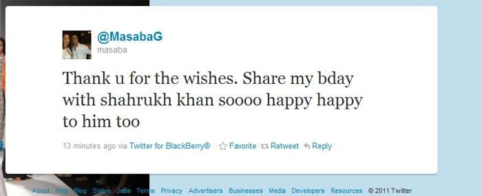 Celeb tweets ring in SRK\'s birthday