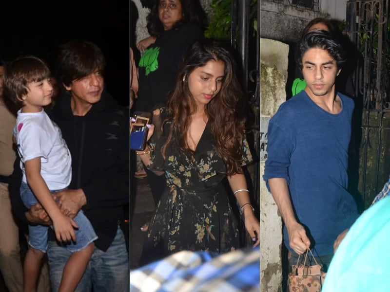 Fam-Jam At The Lion King Screening: Shah Rukh And Aryan Take Along Abram, Suhana, Gauri