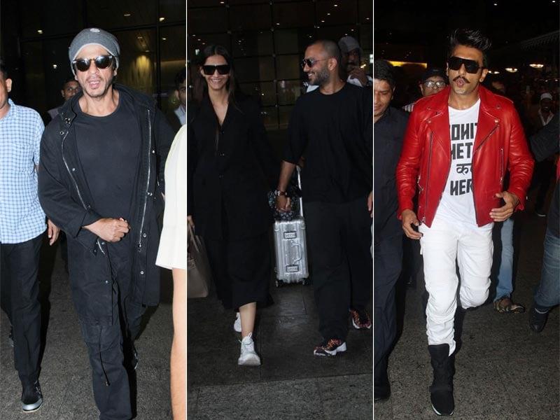 Airport Traffic: Sonam-Anand, Shah Rukh Khan, Ranveer Kapoor Spotted