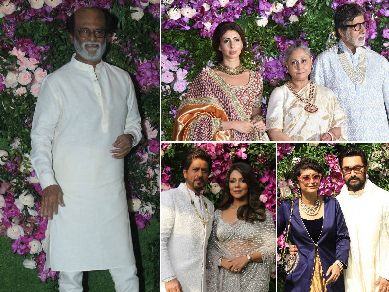 Rajinikanth, The Bachchans, SRK, Aamir And Others At The Ambani-Mehta Wedding