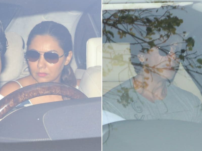Gauri And Shah Rukh Spotted At A Birthday Party