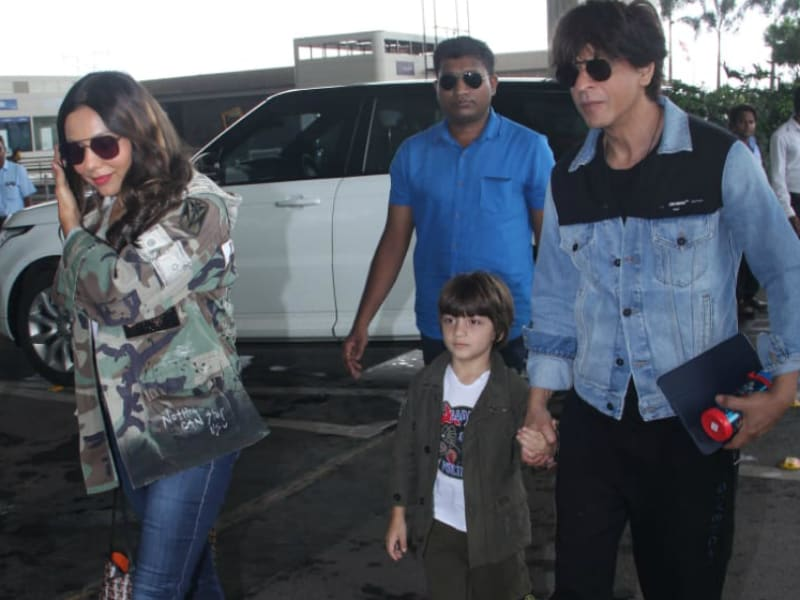 Shah Rukh Khan, Gauri And AbRam's Stylish Airport Diaries
