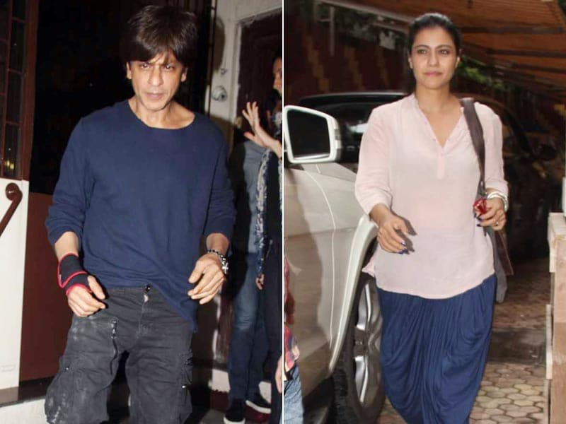 Shah Rukh Khan, Kajol Catch Up With Work