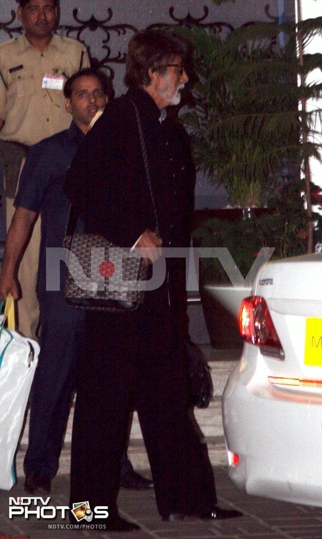 Airport spotting: Big B, Shilpa