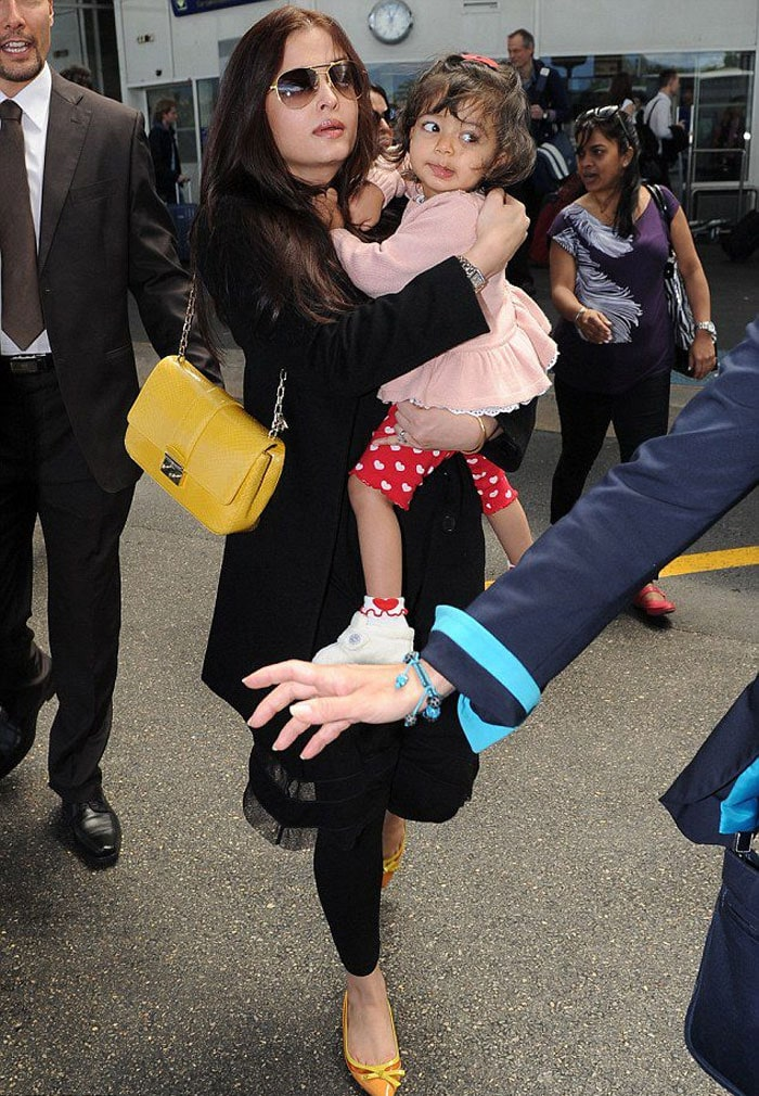 Spotted: Ash with Aaradhya at Cannes