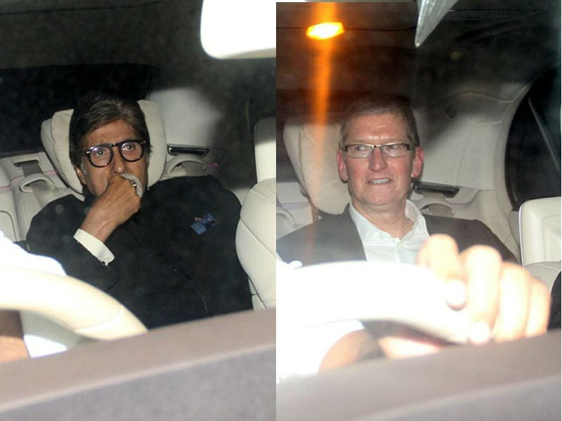 Bachchans, Aamir Attend Shah Rukh Khan's Party For Tim Cook