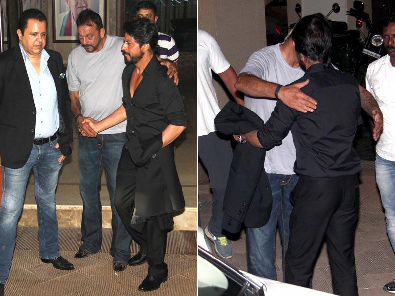 When Shah Rukh Met Munnabhai. There Was a Hug