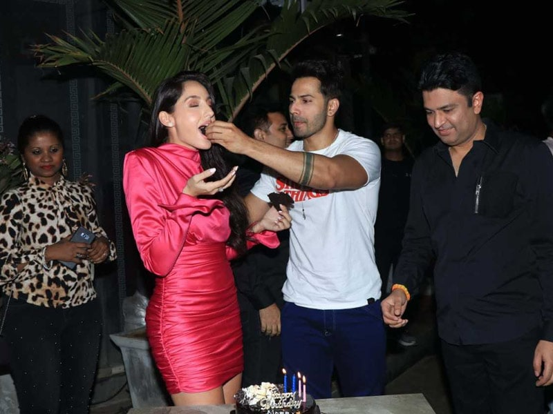 Nora Fatehi's Midnight Birthday Bash With Varun Dhawan And Others