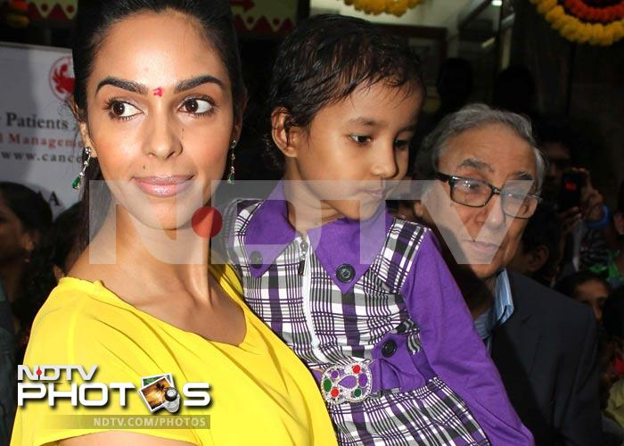Mallika makes time for some special children