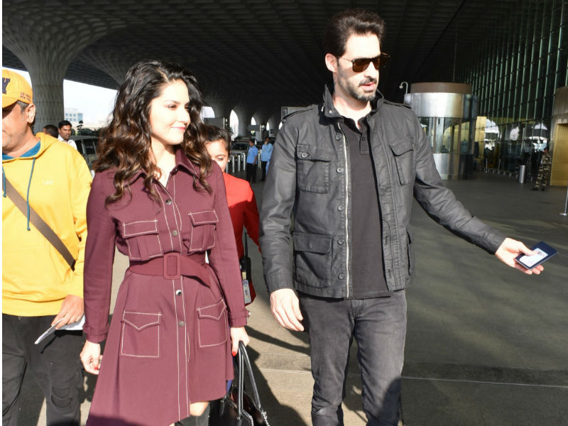 Sunny Leone And Daniel Weber's Airport Diaries
