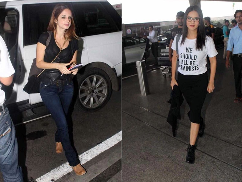 Sunny Leone, Sussanne Khan's Airport Swag Is Off The Charts