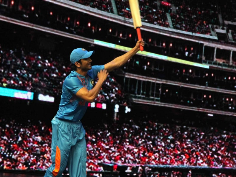 Sushant Has Aced Dhoni's Signature Shot