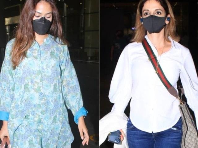 Photo : एक नज़र सुज़ैन खान और मीरा राजपूत के एयरपोर्ट लुक पर