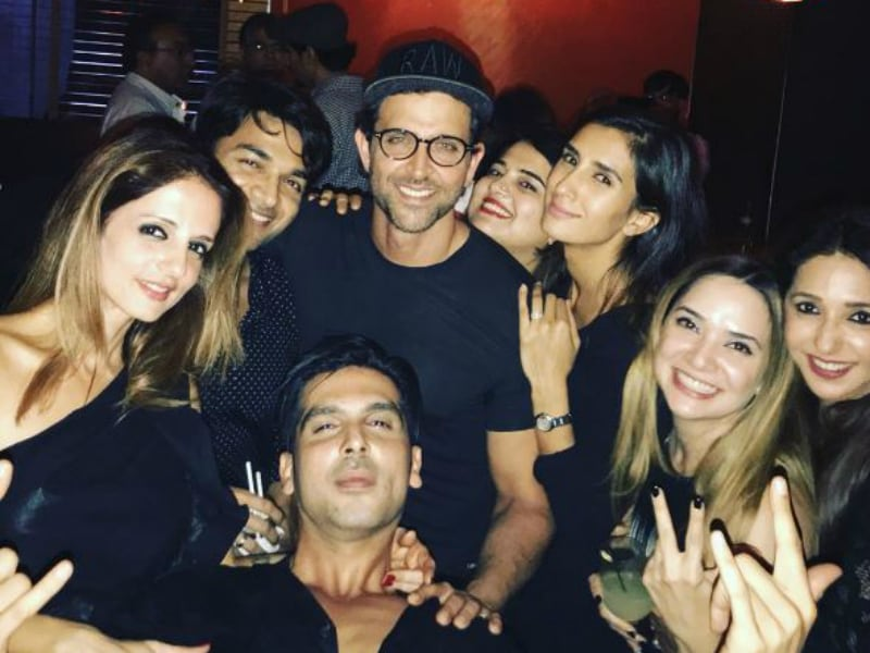 Let's Party With Sussanne And Hrithik