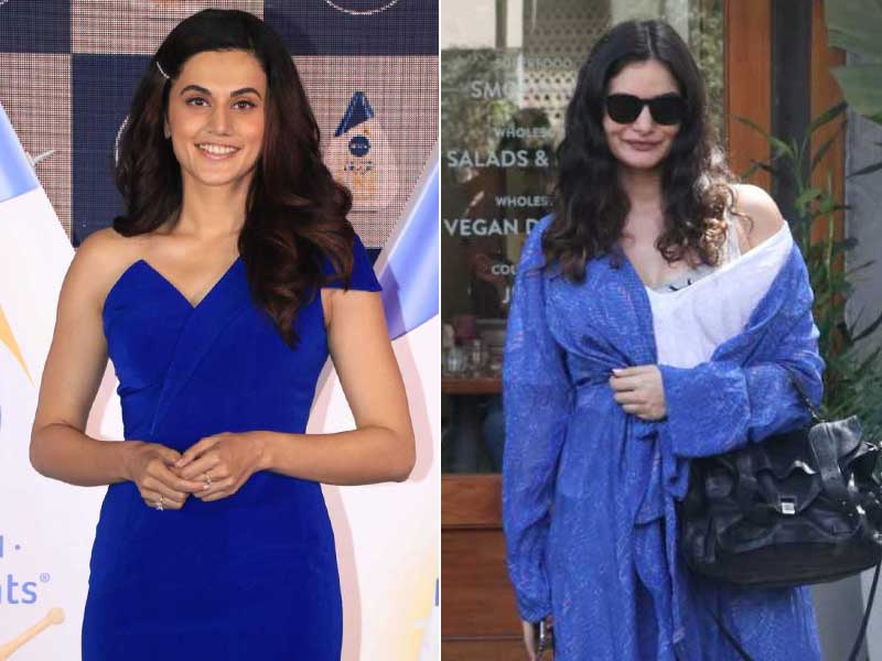 Taapsee Pannu And Gabriella Paint The Town Blue