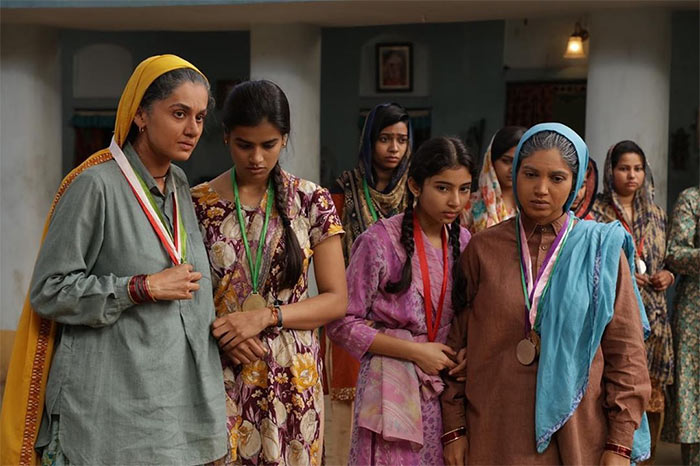 Saand Ki Aankh, starring Taapsee Pannu and Bhumi Pednekar in the lead roles, released in 2019. The film was based on the lives of sharpshooters Chandro and Prakashi Tomar.  This image was posted on Instagram by Taapsee Pannu
