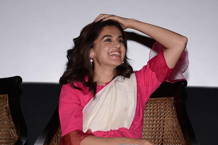 अपनी फिल्म 'थप्पड़' का प्रमोशन नजर करती आईं तापसी पन्नू