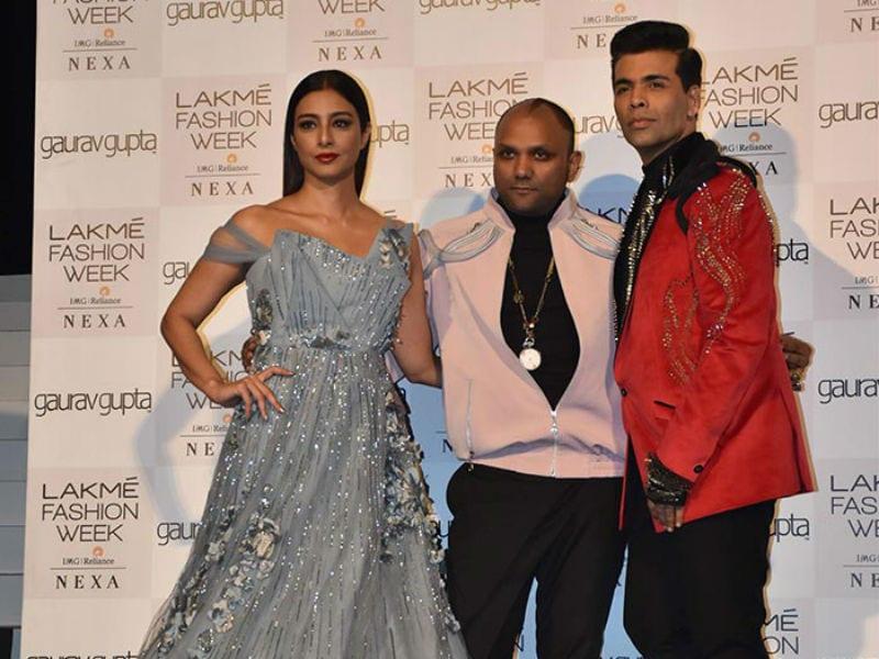 Tabu And Karan Johar Walk The Ramp For Gaurav Gupta