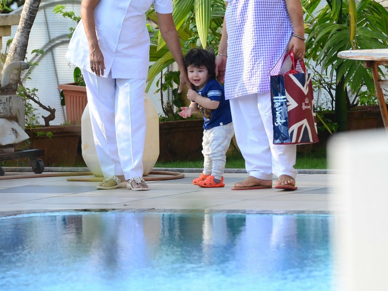 Taimur's Love For The Pool