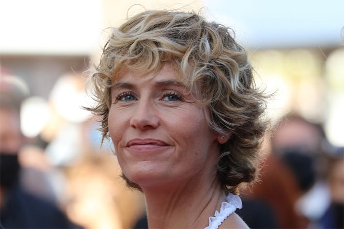 Belgian actress Cecile De France smiled as she walked the red carpet ahead of the screening of her film  De Son Vivant.