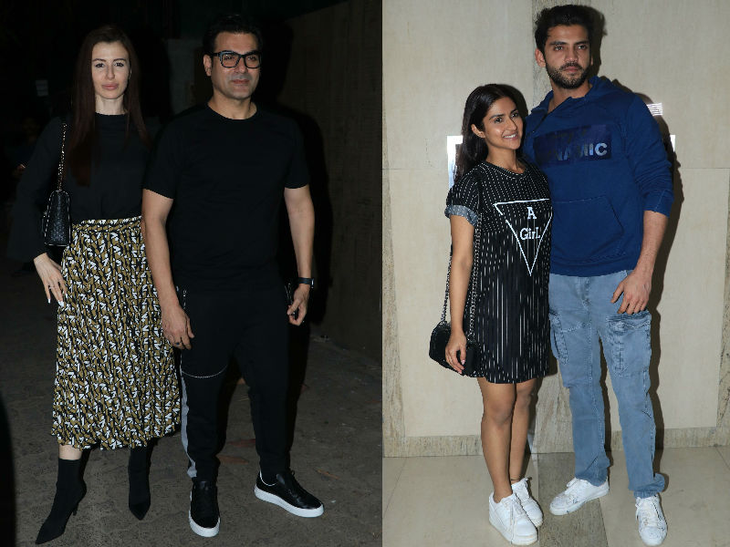 Arbaaz-Giorgia, Pranutan-Zaheer Step Out To Watch Thackeray And Manikarnika