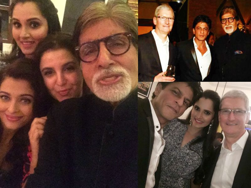 Selfies and Pics From Shah Rukh Khan's Party for Tim Cook