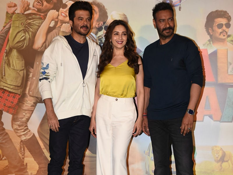 Madhuri Dixit, Ajay Devgn, Anil Kapoor At Total Dhamaal Trailer Launch Event