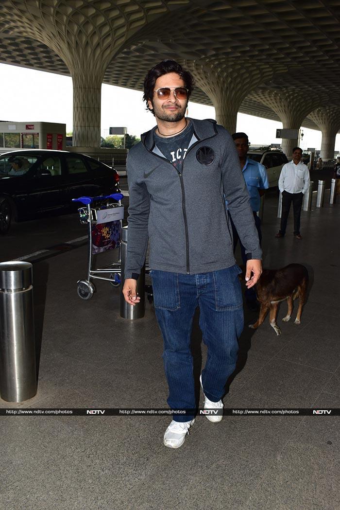 एयरपोर्ट पर हुआ 'टोटल धमाल', नजर आए माधुरी, अनिल कपूर, अजय देवगन