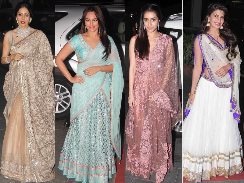 Sridevi, Sonakshi, Shraddha, Jacqueline Style Up for Tulsi Kumar's Reception