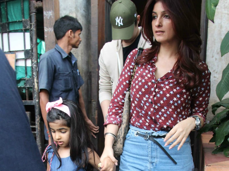 Twinkle Takes Aarav And Nitara Out For Lunch