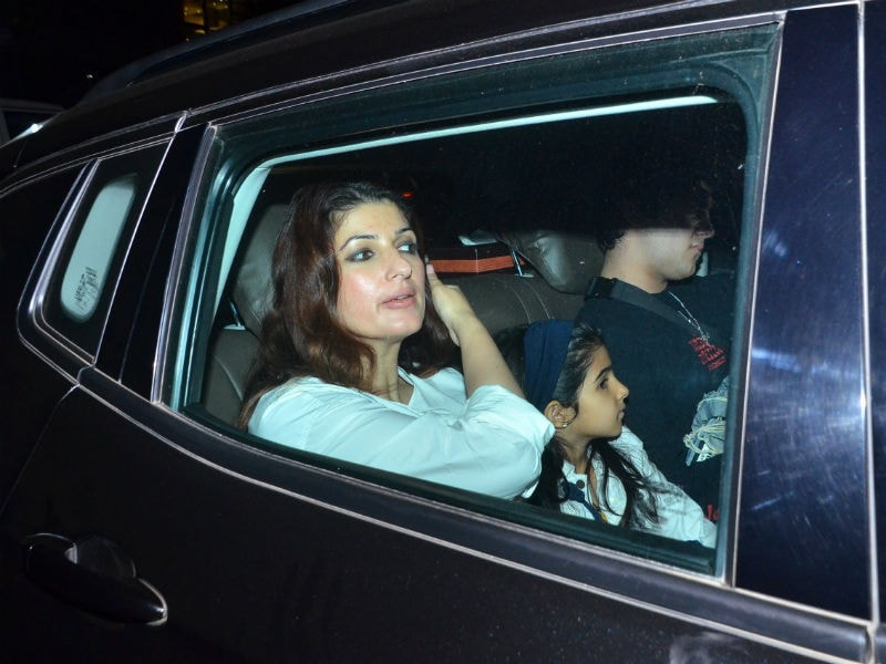 Twinkle Khanna Attends Mission Mangal Screening With Nitara And Aarav