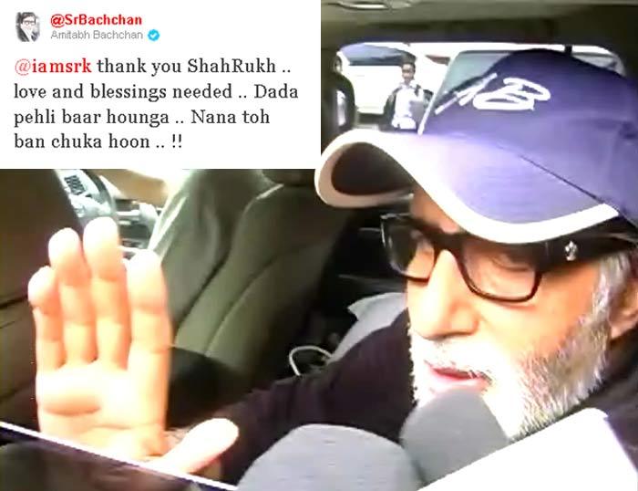 SRK greets the Bachchans