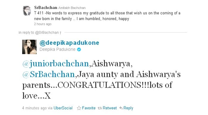 Wishes pour in for Bachchans